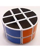 Lanlan 2X3X3 Pie-Shape Round Column Cube - White