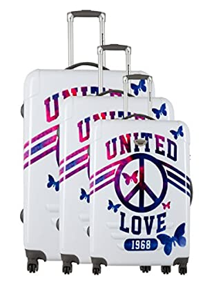 American Revival Set 3 Trolley United Love (Bianco)