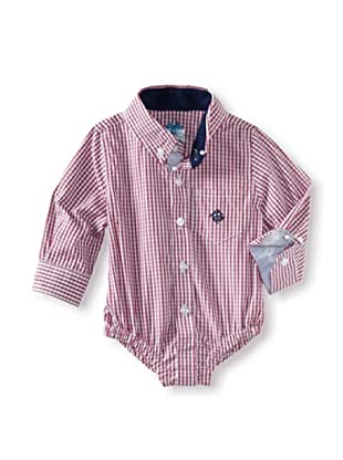 Andy & Evan Baby Boys Shirtzie (Red Ging)