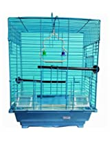 Pet Club51 HIGH QUALITY STYLISH METAL CAGE FOR SLY BLUE-MEDIUM