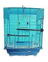 Pet Club51 HIGH QUALITY STYLISH METAL CAGE FOR SLY BLUE-MEDIUM