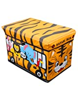 Global Decor Toy-Stor Kid Decor Children's Storage Container/Stool, Safari Truck