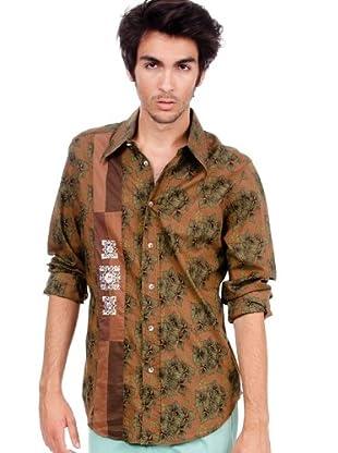 Custo Camisa Pitt Yang (Marrón)