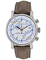 Nautica Sports Chronograph White Dial Men's Watch - NAI17505G