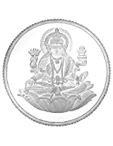 Gitanjali Silver Coin 100 GM 999 Purity Laxmi Impression FREE 20 GMs Silver Coin