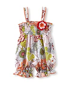 Baby Nay Smocking Balloon Romper (Tahiti)