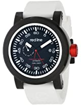 red line Men's RL-50047-BB-01-WHST Torque Sport Black Dial White Silicone Automatic Watch