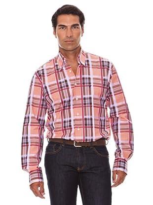 Caramelo Camisa Cuadros (marrón medio)