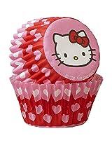 Wilton 100 Count Hello Kitty Cups, Mini, Multicolor