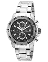 Invicta Men's Quartz Watch with Black Dial Chronograph Display and Silver Stainless Steel Bracelet 21571