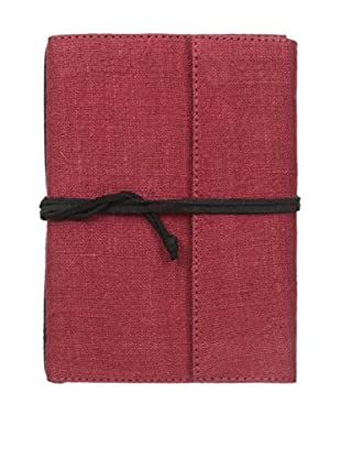 Marina Vaptzarov Small Linen & Felt Soft Cover Notebook, Dark Red