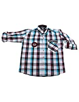LITTLE MAN Cotton Boy's Shirt (LM16C3_16 , Purple, 16)