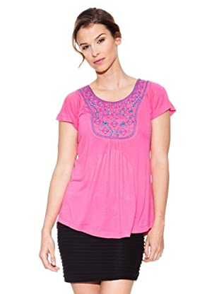 Mahal Camiseta Bordado (Rosa)