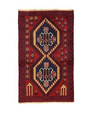 Eden Teppich Beluchistan rot/blau 85 x 137 cm
