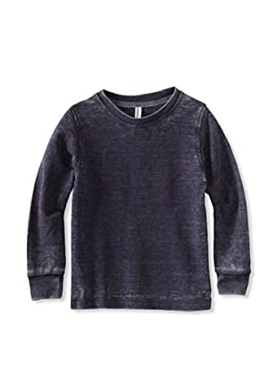 Colorfast Apparel Boy's Burnout Thermal (Navy)