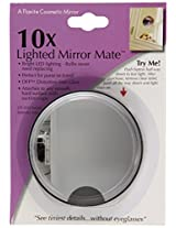 Floxite Fl-10lmm3 10x Led Lighted Mirror Mate With Suction Cups, Black