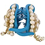 Apeksha Arts Glass Multi Color Hand Crafted Pearl Cluthcher For Women