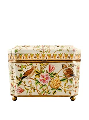 Evelyn Birds and Floral Hinged Box