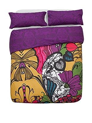 Desigual Bettdecke und Kissenbezug Floralia