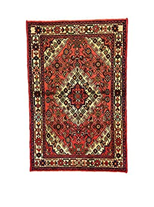 L'Eden del Tappeto Teppich Hamadan rot/mehrfarbig 146t x t96 cm