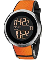 Gucci I Gucci Digital Orange Rubber Mens Watch Ya114104