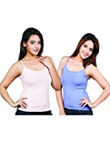 Clifton Women's Camisole's Pack of 2 Pieces - Peach-Lavender - XXX-Large