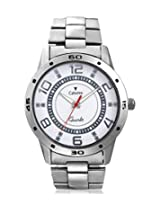 Calvino Men's White Dial Watch CGAC-141127_SIL-WHT