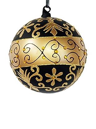 Winward Curiosity Glass Ornament, Copper/Gold