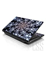 LSS 15 15.6 inch Laptop Notebook Skin Sticker Cover Art Decal Fits 13.3 14 15.6 16 HP Dell Lenovo Apple Asus Acer Compaq (Free 2 Wrist Pad Included) Spinning Stars