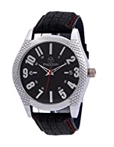 PREEZON Black Dial Analogue Watch for Men (PI-ROCK-001)
