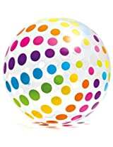 "Intex Jumbo Inflatable 42"" Giant Beach Ball Crystal Clear With Translucent Dots #59065 Ep / 2016"