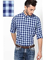 Blue Bell-Pt / Twilight Blue Full Sleeve Casual Shirts