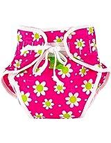 Kushies Baby Unisex Swim Diaper, Small, Fuchsia Daisy Print, Small