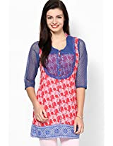 Cotton Red Kurti