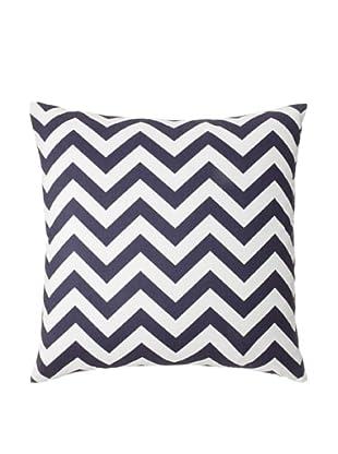 The Pillow Collection Xayabury Zig-Zag Decorative Pillow, Blue, 18