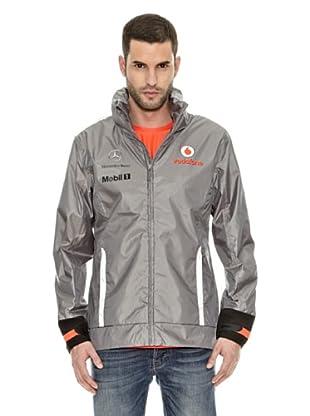 Vodafone McLaren Chaqueta Team Waterproof (Gris / Plata)