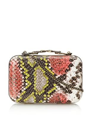 House of Harlow 1960 Women's Marley Minaudiere (Blush Snake)