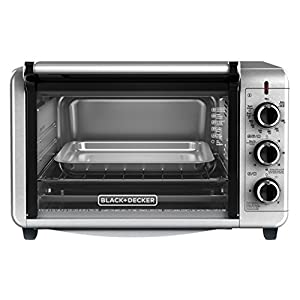 BLACK+DECKER TO3210SSD Countertop Convection Toaster Oven, Silver