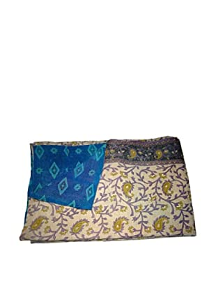 Vintage Chanda Kantha Throw, Multi, 60