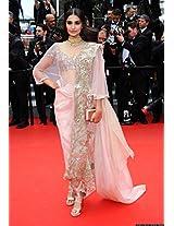 Sonam Kapoor Pink Saree At 67th Annual Cannes Film Festival