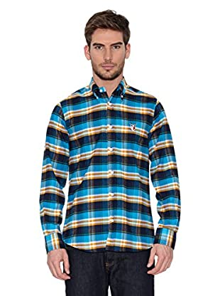 Polo Club Camisa Hombre Checks (Azul / Amarillo)