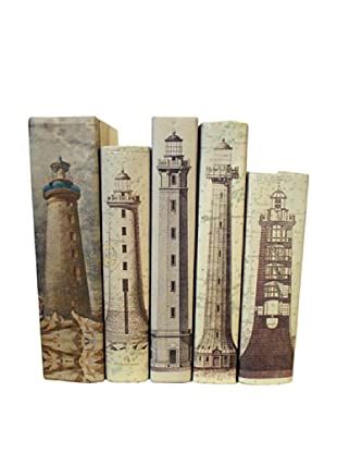 By Its Cover Hand-Rebound Set of 5 Lighthouse Decorative Books, II