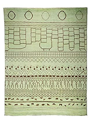 Solo Rugs Moroccan One-of-a-Kind Rug, Green, 7' 10
