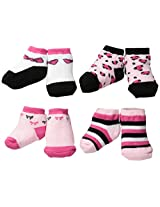 BON BEBE Baby-Girls Newborn 4 Pair Socks Assorted Gift Set, Multi, New Born
