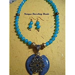 Unique Dazzling Beads Pearl Blue magic
