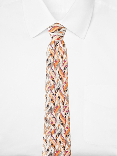 Emilio Pucci Men's Twirl Tie, Orange/Peach