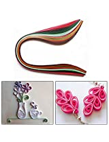 Set of 100 Colorful 3 mm Quilling Paper Strips Ribbons - For Paper Quilling and Other Art and Craft Work