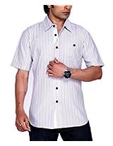 Moksh Men's Striped Casual Shirt V2IMS0414-10 (Medium)