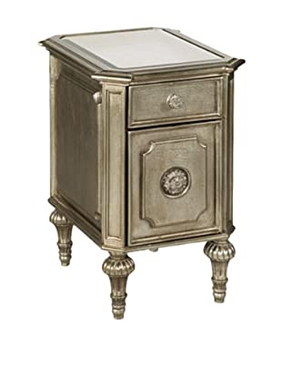 Bassett Mirror Company Palazzina Chairside Chest, Champagne Silver