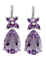 Djoyer Sterling-Silver Dangle & Drop Earring For Women Purple - #E7848